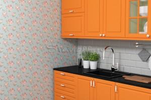 Обои для оранжевой кухни — фото и рекомендации