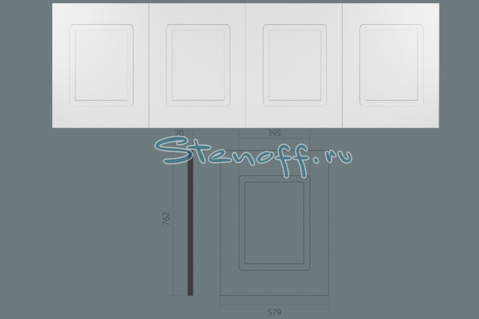 фото Стеновая панель с 4-мя филенками, арт. UW 410 (762 х 2345 х 20мм.)